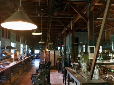 Work desk at Edison Lab