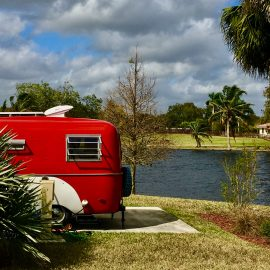 The Tiny Red Caravan at W.P. Franklin Campground